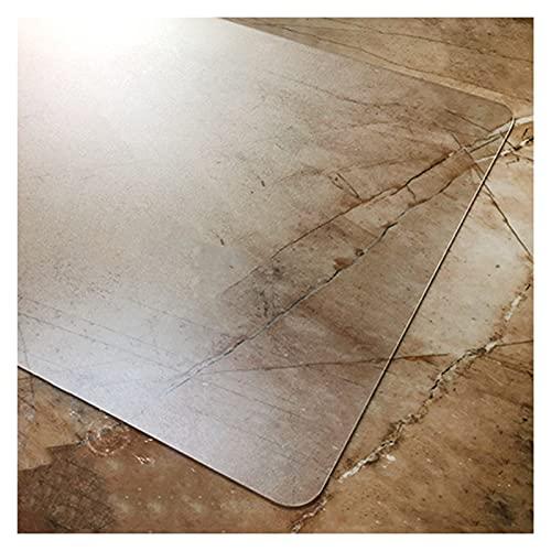 ZWYSL Alfombrilla Transparente tapete Protector de Piso Resistente al Calor Impermeable para la Oficina en casa Estera de la Silla del Piso del PVC, 34 Tamaños (Color : 1.5mm, Size : 140×140cm)