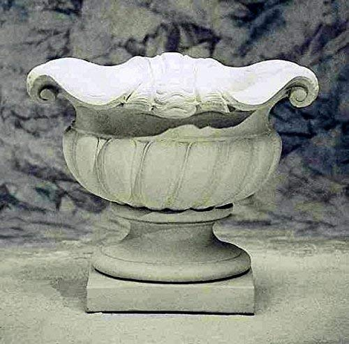 pompidu-living Muschel-Vase, Amphore, Blumentopf, Pflanzkübel, Topf, Stein, H 70 Farbe Sandstein