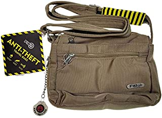 FIB Anti-Theft Slash Proof Cross Over Messenger Bag Travel RFID - Sand