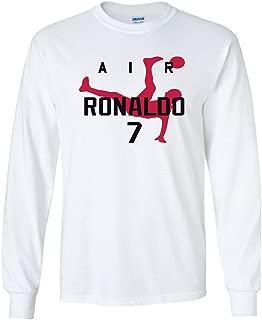 KING THREADS Long Sleeve Cristiano Ronaldo Ronaldo Real Madrid T-Shirt