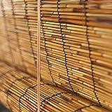 HUAZIYU Persiana Enrollable de Bambú Persiana Romana Cubiertas de Caña Natural,Persiana de Caña para Ventanas,para Uso en Interiores y Exteriores Decorativas,Personalizables (100x120cm/39x47in)