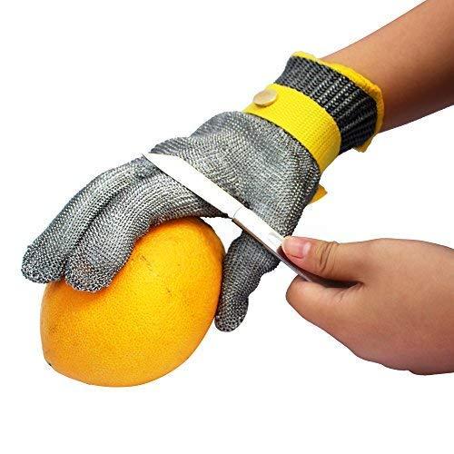 StillCool Schnittschutzhandschuhe Schnittfeste Handschuhe Schnittfeste Handschuhe Kettenhandschuhe aus 100% Edelstahl-Metal Mesh Metzgerhandschuh