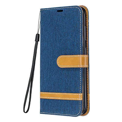 Yiizy Funda para Samsung Galaxy S21fe, Carcasa Galaxy S21 Lite Funda de Cuero con Tapa, Fundas para Tarjeteros de Crédito, Cierre Magnético Silicona Protector Estuche Samsung S21fe, S21 Lite (Azul)