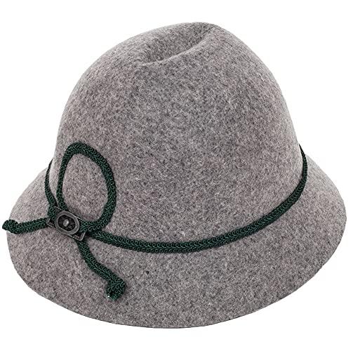 Isar-Trachten Hut für Kinder - Grau Gr. 55