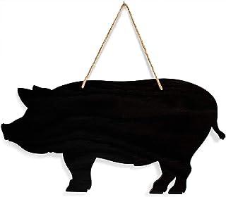 USEN Decoración colgante de cerdo, pizarra, decoración de pared, decoración de pared, decoración de pared, pizarra de tiza