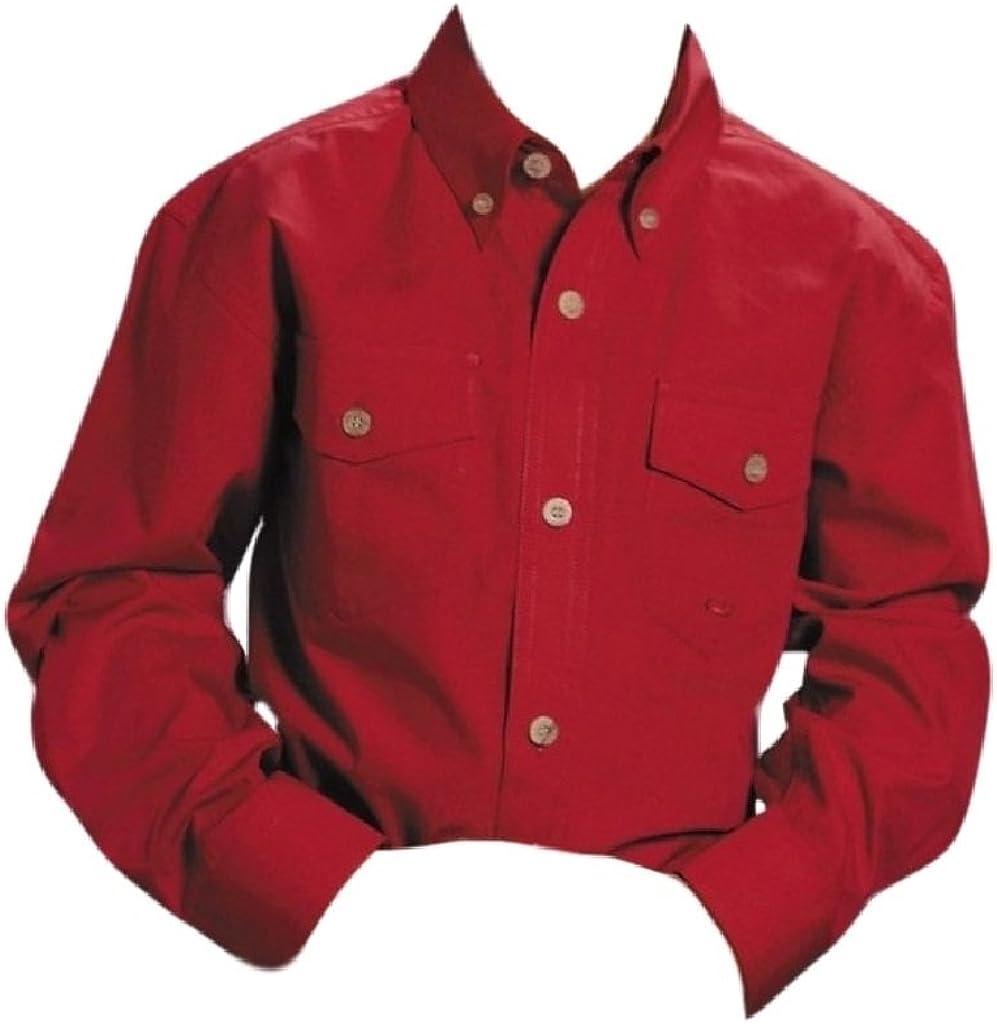 Roper Boys' Boy's Long Sleeve Poplin Western Shirt - 03-030-0365-0031 Ry