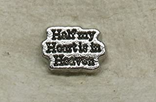 Half my Heart is in Heaven Floating Charm
