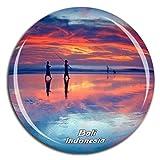 Weekino Souvenir Legian Beach Bali Indonesia Imán de Nevera de Cristal 3D de Cristal de la Ciudad de Viaje Recuerdo de Viaje Colección Regalo Fuerte Etiqueta Engomada del refrigerador