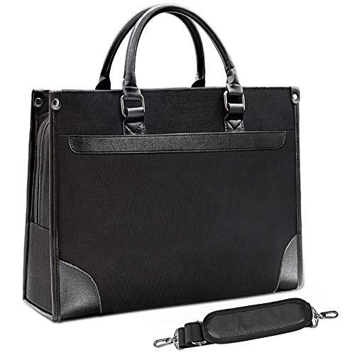 NEWHEY Laptop Tasche 15.6 Zoll Notebook Tasche Bussiness Wasserabweisend Aktentasche Umhängetasche Tablet Tasche Laptoptasche für Herren und Damen Schwarz