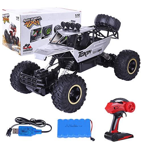DAN DISCOUNTS Coche teledirigido 1:12 4WD RC Coche 10 km/h control remoto eléctrico todoterreno 2,4 GHz RC Offroad Buggy rápido coche de carreras juguete para niños y adultos