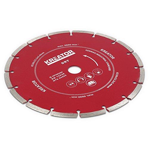 Kreator 3 Stck. Universal Diamant Trennscheiben für Steine, Dachziegel, Beton, Fliesen Trennscheibe ø230 mm - KRT082060