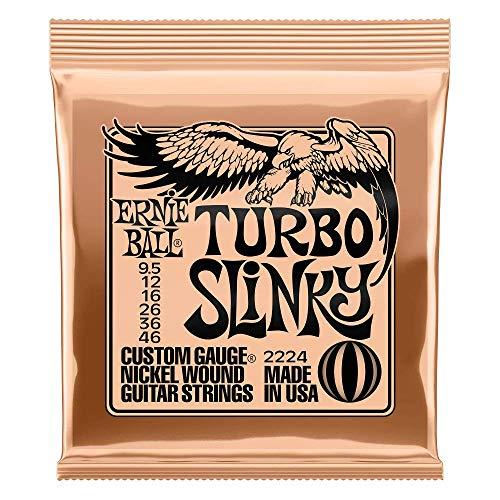 Ernie Ball Turbo Slinky Nickel Wound - Cuerdas Guitarra Eléctrica, Calibre 9.5...
