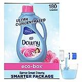 Downy Eco-box Ultra Concentrated Liquid Fabric Conditioner (fabric Softener), April Fresh, 180 Loads, 105 Fl Oz