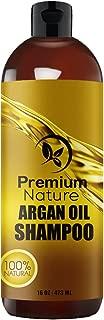 Champú diario de aceite de argán orgánico de 16 oz, rejuvenece el cabello dañado por el calor, nutre y previene la rotura, sin sulfatos, fórmula premium Nature enriquecida con vitaminas de Premium Nature