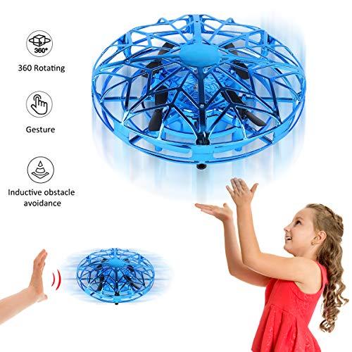 YORKOO Regali per 4-10 Anni Ragazzo Mini Droni Giocattoli Volanti per Bambino Controllo Manuale Flying Ball UFO Quadcopter RC Helicopter Giochi per Bambini
