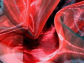 Minerva Crafts Two Tone Sheer Organza Dress Fabric Red Black - per metre