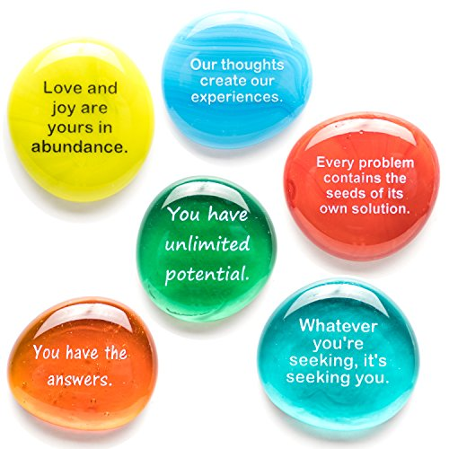 Lifeforce Glass Destiny Stones II, Create Your Own Future with These Encouraging and Motivational Messages on Glass Stones. Packaged in Deluxe Gift Box