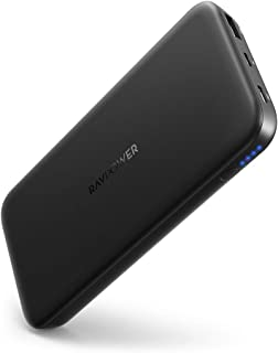 RAVPOWER USB C Power Bank 10000mAh Caricabatterie Portatile con Power Delivery 18W, Quick Charge 3.0 Batteria Esterna per ...