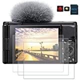 PCTC Tempered Glass Screen Protector Compatible for 2020 Sony ZV-1 ZV1 Film Cover (3 Pack),0.3mm 9H...