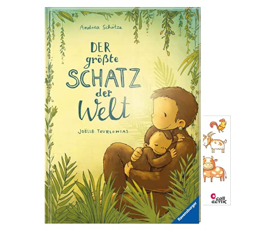 Der größte Schatz der Welt (Gebundenes Buch) + 1x Tiersticker, Kinderbuch ab 3 Jahren