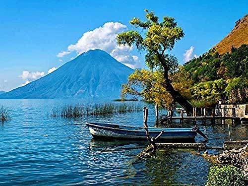 XiuTaiLtd Rompecabezas De Madera De 1000 Piezas, Lago Atitl�