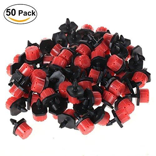 Puissance Ferhd 50 Pcs Jardin dirrigation Brumisateur Micro Flux Goutteur Drip Head 1//10,2 cm pour Tuyau darrosage