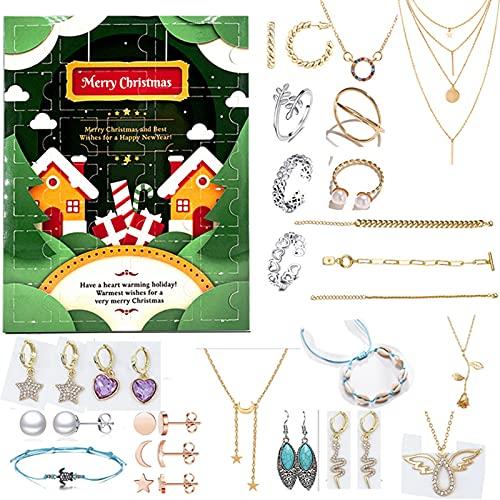 Halllo Creativo set de joyería de Navidad especial exquisitos accesorios de metal regalos encantadores para mujeres y niñas