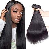 10A Brazilian Virgin Straight Hair 3 Bundles 10' 12' 14' 300g Virgin Brazilian Remy Straight Human Hair Bundles 100% Unprocessed Virgin Remy Hair Bundles Natural Color