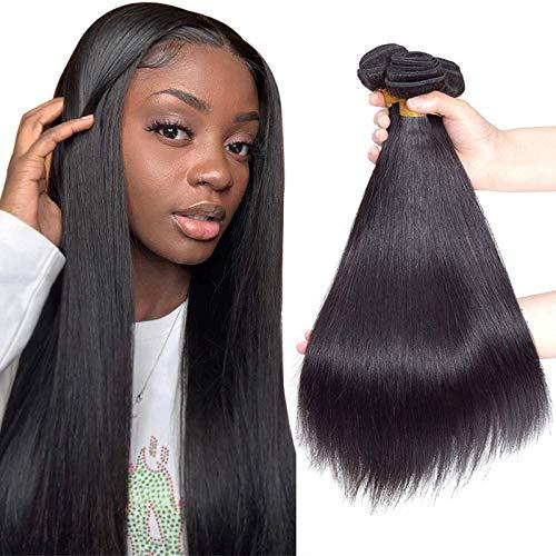 """10A Brazilian Virgin Straight Hair 3 Bundles 10"""" 12"""" 14"""" 300g Virgin Brazilian Remy Straight Human Hair Bundles 100% Unprocessed Virgin Remy Hair Bundles Natural Color"""