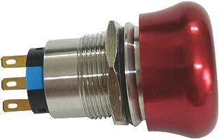 Sharplace Pilzdrucktaster Not Halt/Not Aus Wasserdicht IP67 Selbstsperrend   rot 1no 1nc
