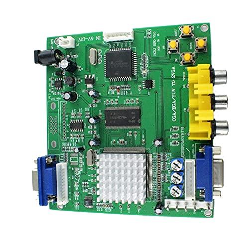 TX GIRL Arcade-Spiel RGB CGA EGA YUV an VGA HD Video Converter Board 1 VGA Single Output für CRT LCD PDP Monitor (Color : Multi-Colored)