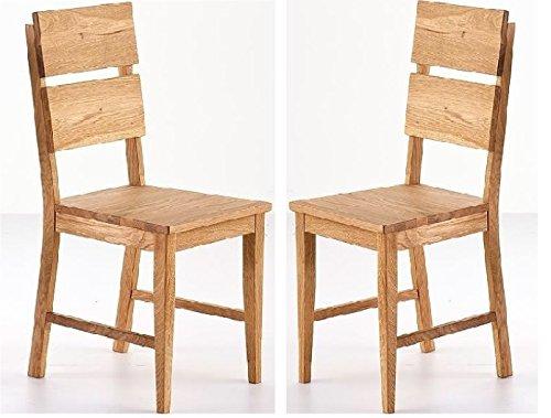 Stühle 2 Küchenstühle Wildeiche geölt 2 Esszimmerstühle Wildeiche - (2874)