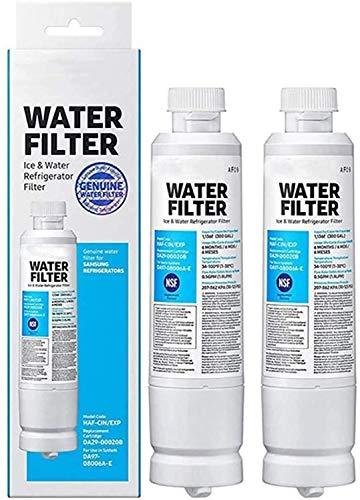 Cloro, Olor, Partículas Reduciendo El Reemplazo del Filtro De Agua del Refrigerador Compatible con Samsung DA29-00020B, DA29-00020A, HAF-CIN/EXP, 46-9101,4pack