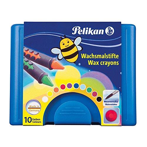 Pelikan 723155 - Wachsmalstifte 655 / 10 in einer Schiebehülse, vermalbar