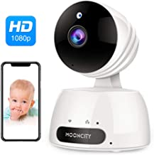 WiFi Home Security Camera with Pan Tilt Zoom, 1080P Wireless IP Indoor Camera with 2 Way Audio,Motion Detection,Night Vision for Pet Baby Monitor (White)