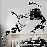 Luzhenyi Vinilo Tatuajes De Pared Sexy Chica Desnuda En Bicicleta Hermoso Cuerpo Pegatinas Extraíble Mural De Arte Para El Dormitorio Sala De Estar Decoración 83X74 Cm