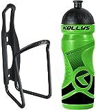 Kellys Fahrrad Trinkflaschenhalter Set Caliber + Trinkflasche 0,7 Sport, Namib Schwarz, grün, Blau, Gelb, Weiss, Farbe:Grün