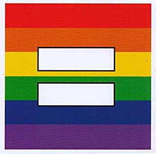 Rainbow Equal Sign - Small Bumper Sticker / Decal (3.5