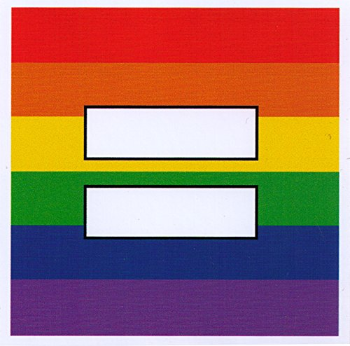 "Rainbow Equal Sign - Small Bumper Sticker / Decal (3.5"" X 3.5"