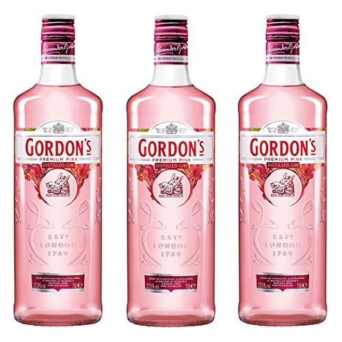 Gordon´s Premium Pink Distilled Gin, 3er, Alkohol, Alkohlgetränk, Getränk, Flasche, 37,5%, 700 ml, 737864