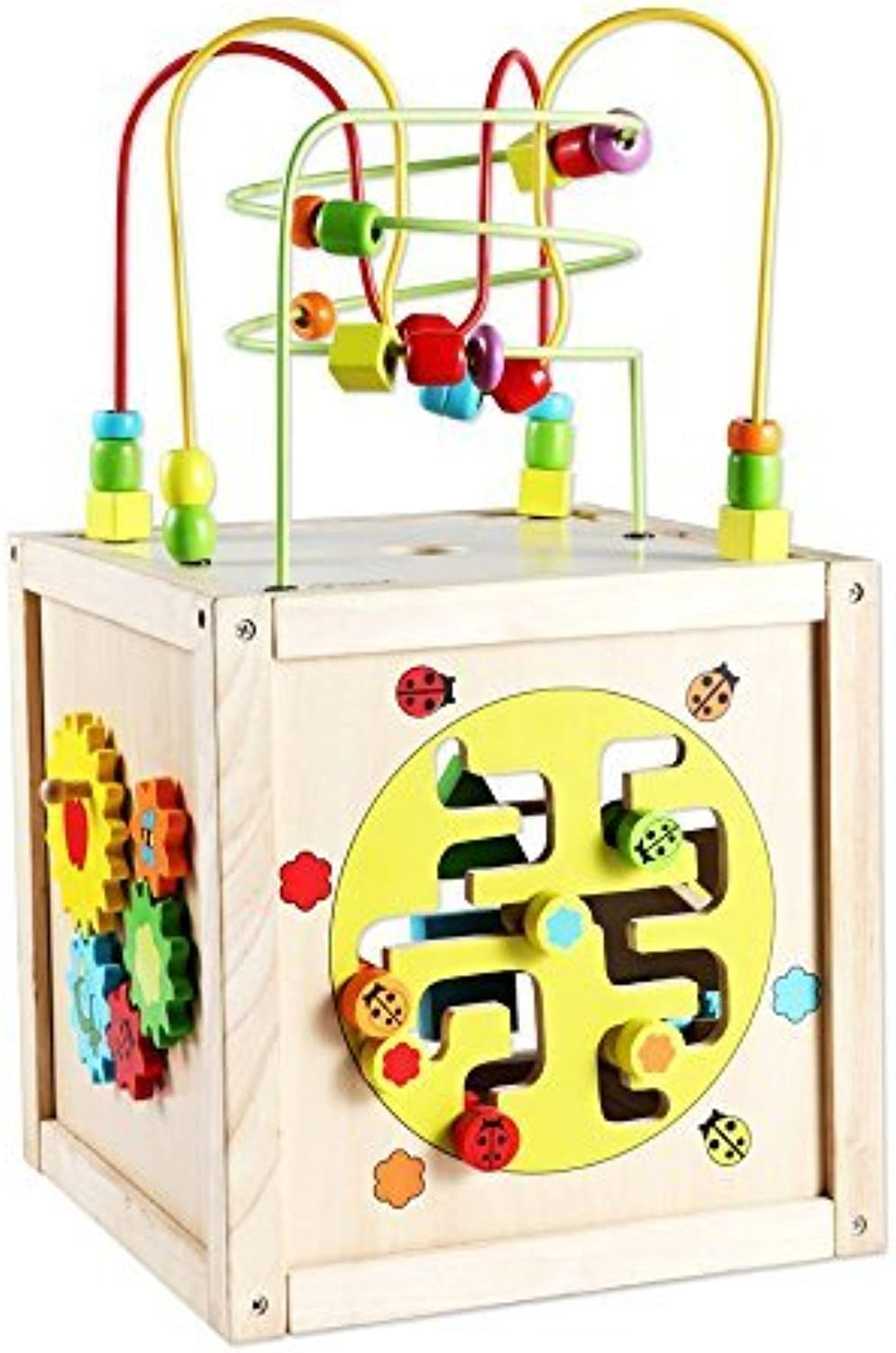 Classic World Toys Multi-Activity Cube with Wheels by Classic World