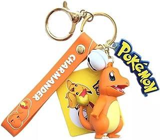 JIUDELE 6 stijlen Pokemon Pikachu Pop Mode Cartoon Sleutelhanger Hanger Pokemon Anime Model Auto Sleutelhanger Gift