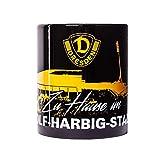 SG Dynamo Dresden Kaffeetasse Rudolf-Harbig-Stadion schwarz