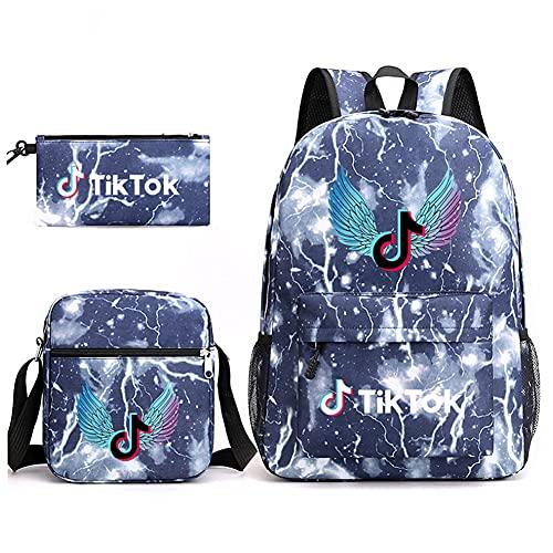 Tik Tok Backpack, 3Pcs Kids School Backpack Include Backpack Satchel and...