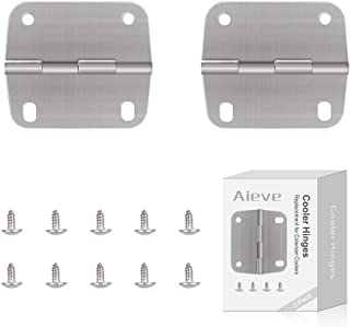 AIEVE Cooler Hinges and Screws Set,Cooler Replacement Hinges,Stainless Steel Hinges and Screws Replacement for Coleman Coolers