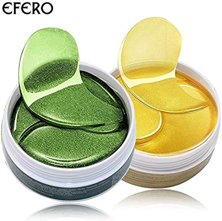 RubyShopUU EFERO 120pcs Collagen Crystal Eye Mask Green Gel Eye Patches Anti Wrinkle Eye Bags Dark