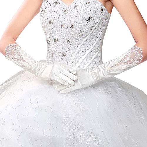 Gants de mariée mariage robe de soirée dentelle longs gants A14