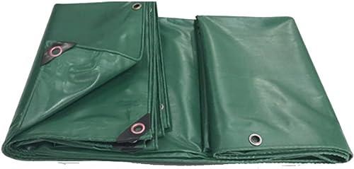 XIAOPING Bache PVC épaissie Pluie épaisse Toile de Drap bache bache de Voiture (Couleur   Vert, Taille   3.8x4.8m)
