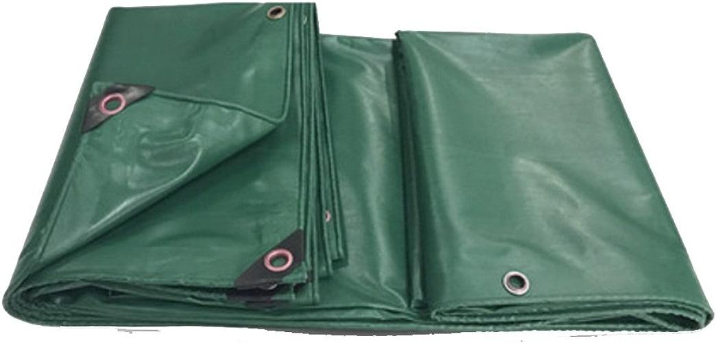 QX pengbu IAIZI Bache imperméable d'angle de Coin, Couche de revêtement de PVC Anti-vieillissement, Couverture extérieure, Une variété de Tailles (Couleur   vert, Taille   4.8  9.8m)