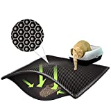 ASOBEAGE Premium Cat Litter Mat, Cat Litter Box Mat Scatter Control,Waterproof Double Layer